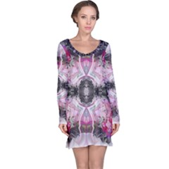 Nature forces Abstract Long Sleeve Nightdresses