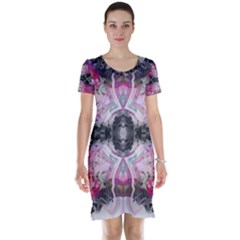Nature forces Abstract Short Sleeve Nightdresses