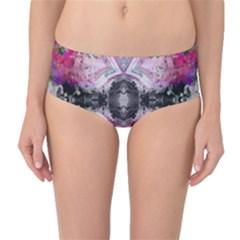 Nature forces Abstract Mid-Waist Bikini Bottoms