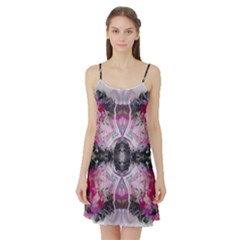 Nature forces Abstract Satin Night Slip