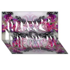 Natureforces Abstract Happy Birthday 3d Greeting Card (8x4)