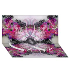 Natureforces Abstract Twin Heart Bottom 3D Greeting Card (8x4)