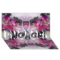 Natureforces Abstract ENGAGED 3D Greeting Card (8x4)