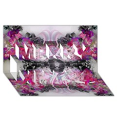 Natureforces Abstract Merry Xmas 3d Greeting Card (8x4)