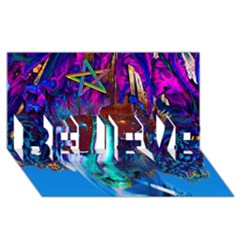 Voyage Of Discovery BELIEVE 3D Greeting Card (8x4)
