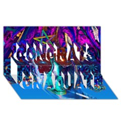 Voyage Of Discovery Congrats Graduate 3D Greeting Card (8x4)