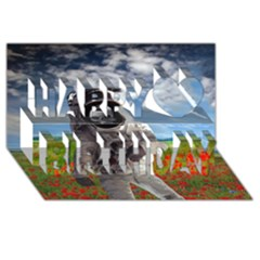Exodus Happy Birthday 3D Greeting Card (8x4)