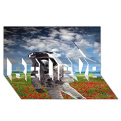 Exodus BELIEVE 3D Greeting Card (8x4)