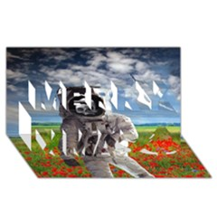 Exodus Merry Xmas 3d Greeting Card (8x4)