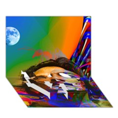 Dream Of Salvador Dali LOVE Bottom 3D Greeting Card (7x5)