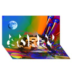 Dream Of Salvador Dali Sorry 3d Greeting Card (8x4)