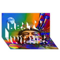 Dream Of Salvador Dali Best Wish 3d Greeting Card (8x4)
