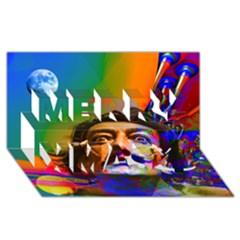 Dream Of Salvador Dali Merry Xmas 3D Greeting Card (8x4)
