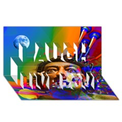 Dream Of Salvador Dali Laugh Live Love 3d Greeting Card (8x4)