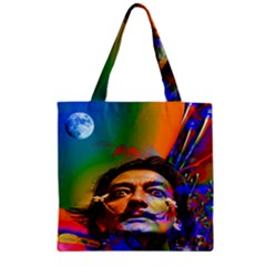 Dream Of Salvador Dali Zipper Grocery Tote Bags