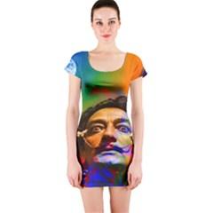 Dream Of Salvador Dali Short Sleeve Bodycon Dresses