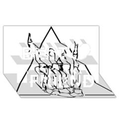 Skull Rock Best Friends 3D Greeting Card (8x4)
