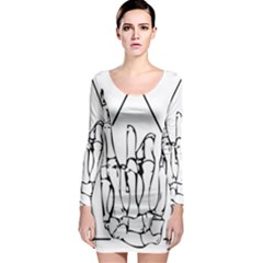 Skull Rock Long Sleeve Bodycon Dresses