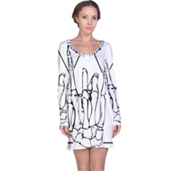 Skull Rock Long Sleeve Nightdresses