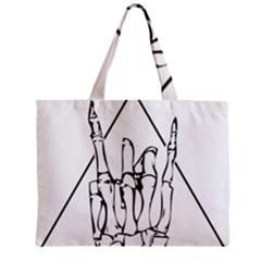 Skull Rock Zipper Tiny Tote Bags