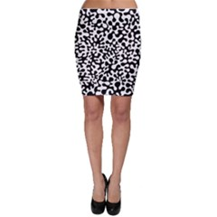 Black and White Blots  Bodycon Skirts