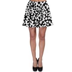 Black and White Blots  Skater Skirts