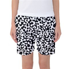 Black And White Blots  Women s Basketball Shorts