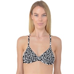 Black and White Blots  Reversible Tri Bikini Tops