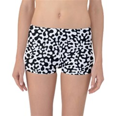 Black and White Blots  Reversible Boyleg Bikini Bottoms