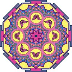 Butterfly Mandala Golf Umbrellas