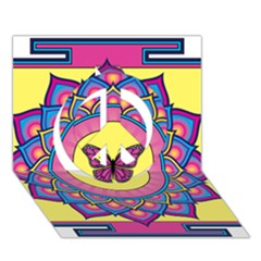 Butterfly Mandala Peace Sign 3d Greeting Card (7x5)