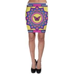 Butterfly Mandala Bodycon Skirts
