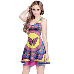 Butterfly Mandala Reversible Sleeveless Dresses