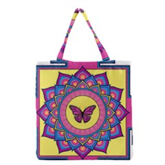 Butterfly Mandala Grocery Tote Bags