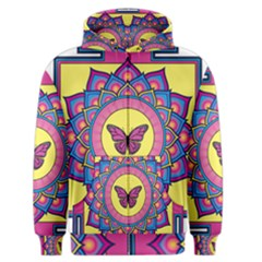 Butterfly Mandala Men s Zipper Hoodies