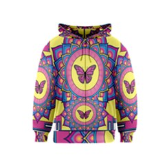 Butterfly Mandala Kids Zipper Hoodies