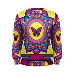 Butterfly Mandala Women s Sweatshirts