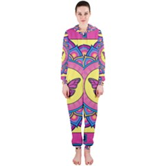 Butterfly Mandala Hooded Jumpsuit (Ladies)