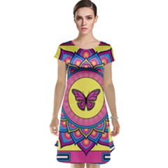 Butterfly Mandala Cap Sleeve Nightdresses