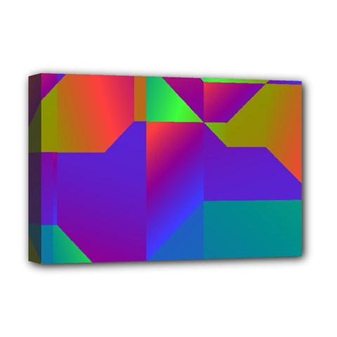 Colorful Gradient Shapes Deluxe Canvas 18  X 12  (stretched)
