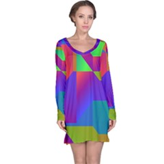 Colorful Gradient Shapes Nightdress
