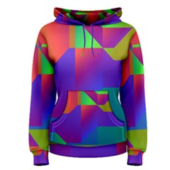 Colorful gradient shapes Pullover Hoodie