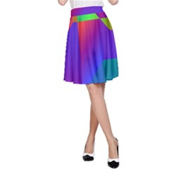 Colorful gradient shapes A-line Skirt