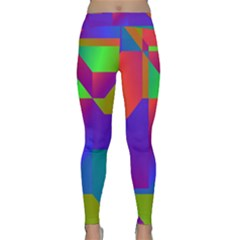 Colorful gradient shapes Yoga Leggings
