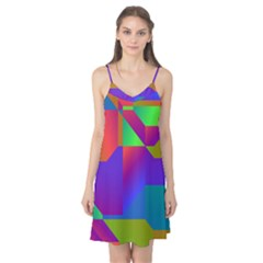 Colorful gradient shapes Camis Nightgown