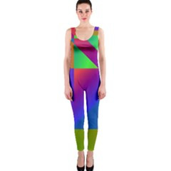 Colorful gradient shapes OnePiece Catsuit
