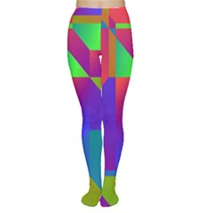 Colorful gradient shapes Tights