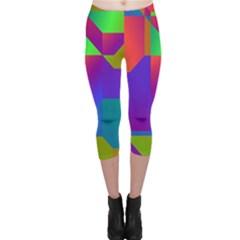 Colorful gradient shapes Capri Leggings