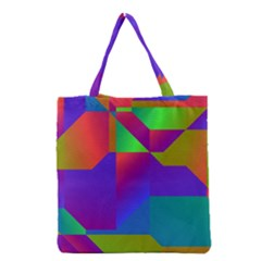 Colorful gradient shapes Grocery Tote Bag