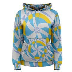 Abstract flower in concentric circles Pullover Hoodie
